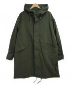 BEAMS HEART(ビームスハート)の古着「フーデッドコート」|グリーン