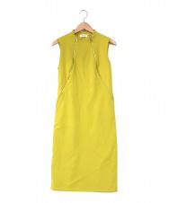 Calvin Klein (カルバンクライン) ノースリーブワンピース イエロー サイズ:4 夏物
