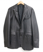 KATHARINE HAMNETT(キャサリンハムネット)の古着「シープスキンテーラードジャケット」 ブラック