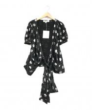 DIANE VON FURSTENBERG (ダイアンフォンファステンバーグ) デザインシャツ ブラック サイズ:2 未使用品