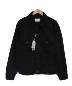 CIOTA(シオタ)の古着「スビンコットンデニムジャケット」|ブラック