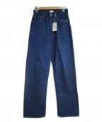 CIOTA(シオタ)の古着「スビンコットンデニムパンツ」|ブルー