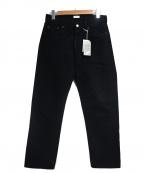 CIOTA(シオタ)の古着「スビンコットンデニムパンツ」|ブラック