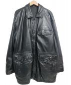 TETSU COMME CA DU MODE(テツ・コムサデモード)の古着「[古着]90'Sレザージャケット」|ブラック