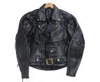 KADOYA(カドヤ)の古着「レザーライダースジャケット」 ブラック