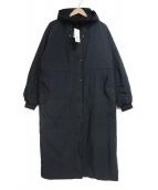 K.T KIYOKO TAKASE(ケーティーキヨコタカセ)の古着「ナイロンタフタ二重仕立てエアリー5WAYコート」|ブラック