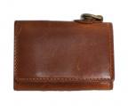 corbo(コルボ)の古着「レザーコンパクト財布」 ブラウン