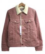 LEE()の古着「ボアストームライダージャケット」 ピンク