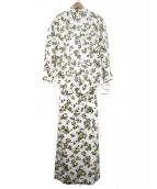 Mila Owen(ミラオーウェン)の古着「後ドッキングふらしシャツワンピース」|ベージュ