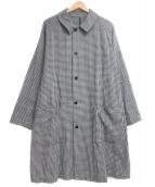 STEVEN ALAN(スティーヴンアラン)の古着「CHECK BAL COLLAR COAT」 グレー