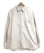 STEVEN ALAN(スティーヴンアラン)の古着「REGULAR COLLAR SHIRT-LOOSE」 ベージュ