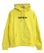 ()の古着「Motion Logo Hooded Sweatshirt」 イエロー
