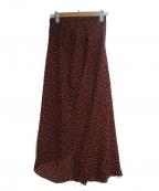 kei shirahata()の古着「アシメロングスカート」|ボルドー