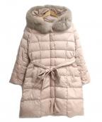 Apuweiser-riche()の古着「ファー付きロングダウンコート」 ピンク