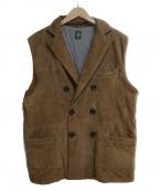 eleventy(イレブンティ)の古着「スウェードベスト」 ブラウン