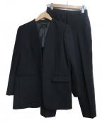 23区(ニジュウサンク)の古着「ダブルクロスストレッチロングセットアップスーツ」|ブラック
