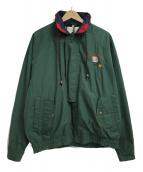 Winner Mate(ウィナーメイト)の古着「90'S企業ロゴ ナイロン古着ジャケット」|グリーン