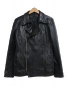SRIVER(スリヴァー)の古着「ライダースジャケット」|ブラック
