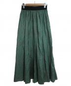 Uhr(ウーア)の古着「ドットスカート」|グリーン