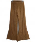 Uhr(ウーア)の古着「ニットフレアパンツ」|ブラウン