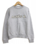 agnes b(アニエスベー)の古着「ロゴスウェット」 グレー