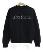 agnes b(アニエスベー)の古着「ロゴスウェット」|ブラック