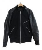 skookum(スクーカム)の古着「ウールスタジャン」 ブラック