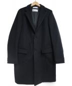 BEAUTY&YOUTH(ビューティーアンドユース)の古着「ソリッド メルトン チェスターコート」|ブラック
