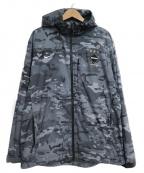 F.C.R.B.×NIKE(エフシーリアルブリストル×ナイキ)の古着「Camo Hoodie Jacket」|グレー