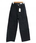 KIJI(キジ)の古着「SHIMAワイドデニム」|ブラック