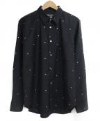 COMME des GARCONS HOMME DEUX()の古着「Wool Gabardine Cut Dobby Shirt」|ブラック