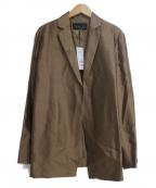 BASILE 28(バジーレ28)の古着「シルクナイロンコンフォートテーラードジャケット」 ブラウン
