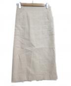 martinique(マルティニーク)の古着「サマーツイードタイトスカート」 ベージュ
