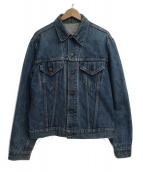 LEVIS(リーバイス)の古着「[古着]70'Sヴィンテージ3rdデニムジャケット」|ブルー