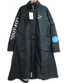 NIKE×OFF WHITE(ナイキ×オフホワイト)の古着「Mercurial NRG X Jacket」|ブラック