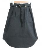 THE RERACS(ザ リラクス)の古着「ベルテッドスカート」|ブラック