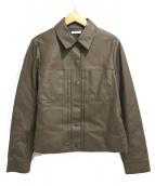 MOTOMACHI Zelal(モトマチゼラール)の古着「ラムレザージャケット」|ブラウン