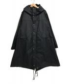 NOISE MAKER(ノイズメーカー)の古着「機能素材切替ビッグロングモッズコート」|ブラック
