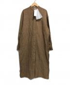 SEEALL(シーオール)の古着「LONG SHIRTS DRESS」 ブラウン