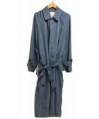 Adam et Rope(アダム エ ロペ)の古着「一枚袖ステンカラーコート」|ブルー