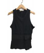 PRADA(プラダ)の古着「ノースリーブカットソー」|ブラック