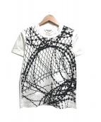 JUNYA WATANABE CdG(ジュンヤワタナベコムデギャルソン)の古着「有刺鉄線プリントTシャツ」|ホワイト