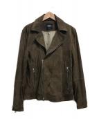 EMMETI(エンメティ)の古着「ゴードスキンライダースジャケット」|ブラウン