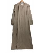 STEVEN ALAN(スティーブンアラン)の古着「GATHER MAXI DRES」|ベージュ
