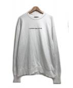 DIESEL(ディーゼル)の古着「コピーライトプリントスウェット」|ホワイト