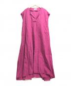 SLOBE IENA(スローブ イエナ)の古着「フレンチリネンスキッパーワンピース」|ピンク