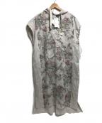 ARTISAN(アルチザン)の古着「リネンシルク花柄ワンピース」 ベージュ