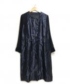 ARTISAN(アルチザン)の古着「シルク和紙サテンドレス」 ネイビー