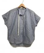 ARTISAN(アルチザン)の古着「ストライプジャカードシャツ」 ブルー