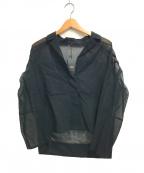 comme ca(コムサ)の古着「シースルー ジャケット」 ブラック